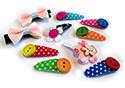 Vrolijke haarspeldjes en haarknipjes met hartjes en bloemetjes, speciaal voor baby's