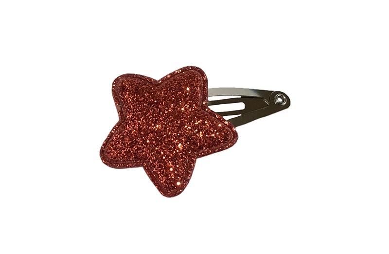 Vrolijk baby haarspeldje met een rood glitter sterretje.