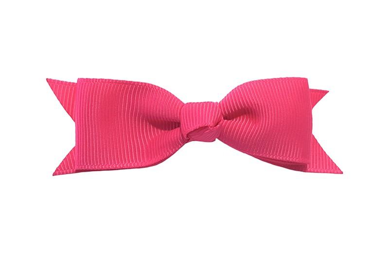 Mooi haarstrikje van fuchsia roze lint op een handig alligatorknipje. Leuk voor kleine meisjes en grotere meisjes.