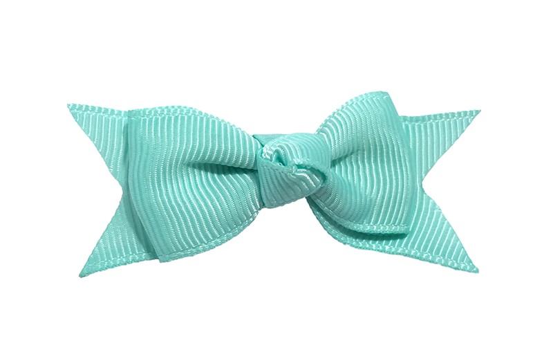 Mooie enkele haarstrik van zee blauw lint op een alligator knipje. Leuk voor kleine meisjes en grotere meisjes.