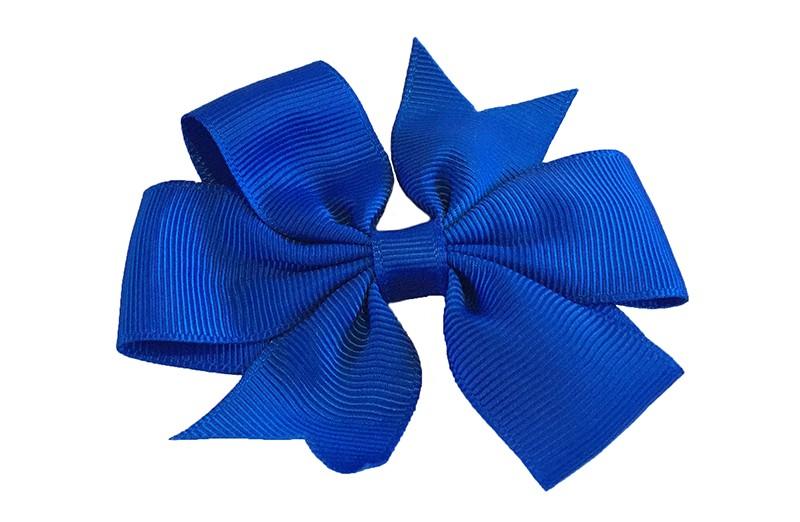 Mooi! Grote kobalt blauwe haarstrik op een alligator speldje makkelijk in het haar te zetten.
