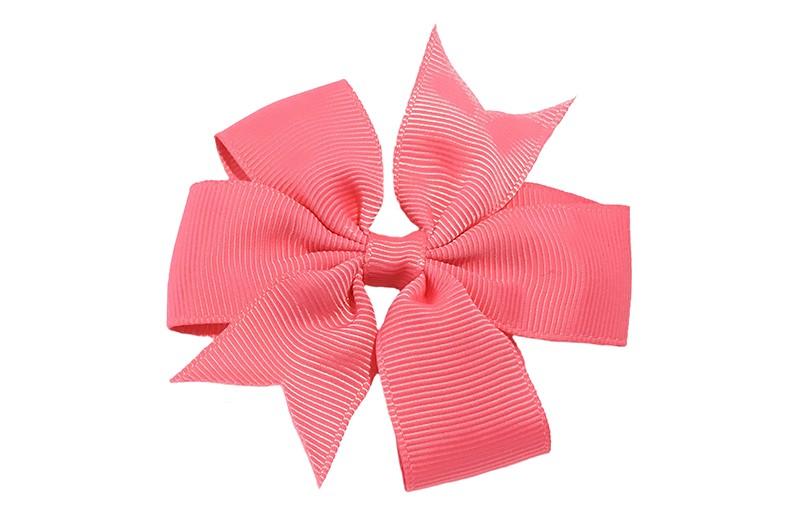 Mooi! Grote watermeloen roze haarstrik op een alligator speldje makkelijk in het haar te zetten.