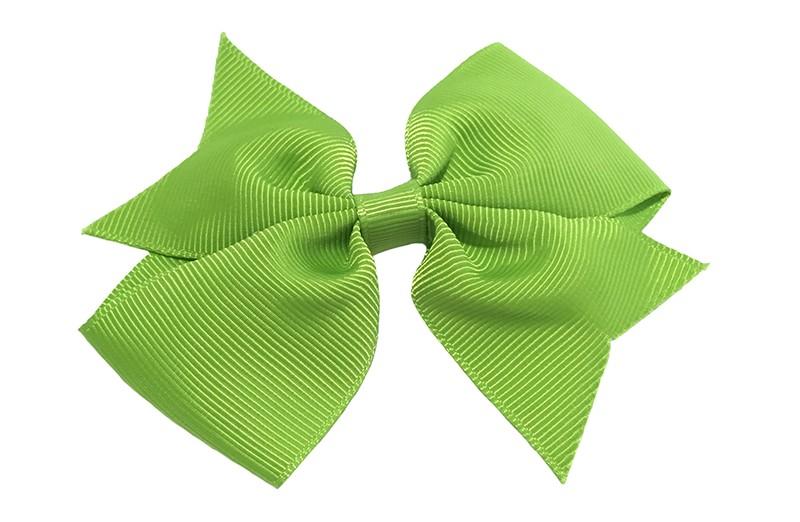Leuke enkele fel licht groene haarstrik op alligator knip  Leuk voor zowel jonge meisjes als oudere meisjes.