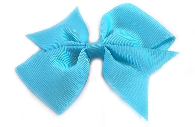 Leuke enkele haarstrik in fel blauwe kleur op alligator knip. Leuk voor zowel jonge meisjes als oudere meisjes.