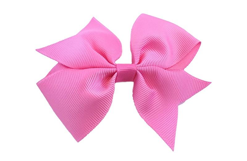 Leuke enkele haarstrik in fel roze kleur op alligator knip  Leuk voor zowel jonge meisjes als oudere meisjes.