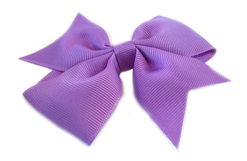 Leuke enkele haarstrik in lila / paarse kleur op alligator knip. Leuk voor zowel jonge meisjes als oudere meisjes.
