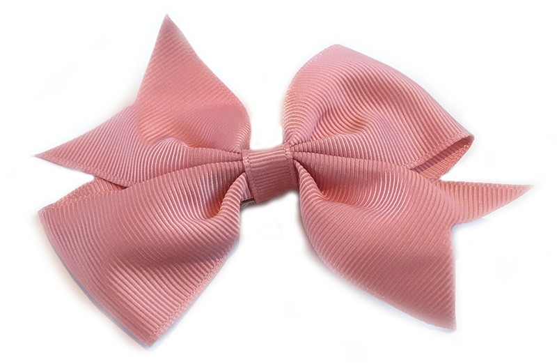 Leuke enkele haarstrik in oud roze kleur op alligator knip  Leuk voor zowel jonge meisjes als oudere meisjes.