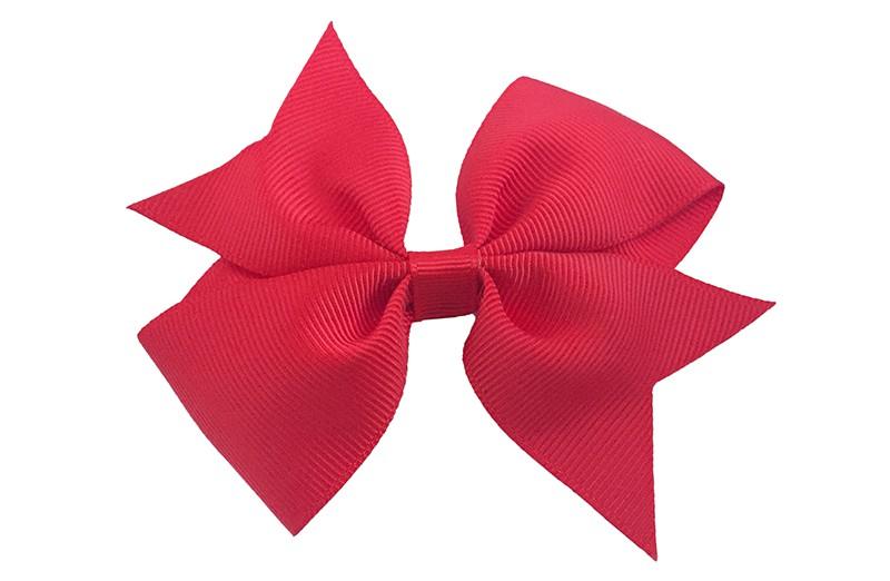 Leuke enkele haarstrik in rode kleur op alligator knip  Leuk voor zowel jonge meisjes als oudere meisjes.