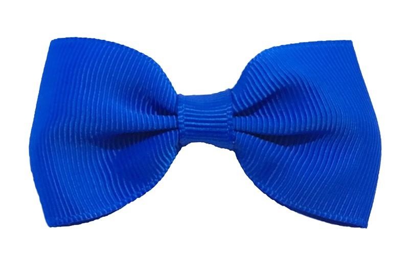 Vrolijk kobalt blauw peuter, meisjes haarstrikje van lint. Op een handig alligator knipje.