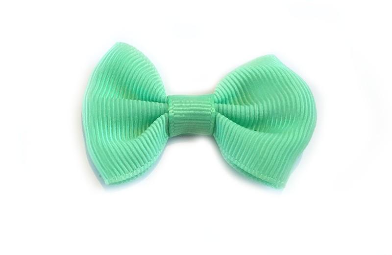 Leuke haarstrik licht (mint) groen op alligator speldje. Leuk, zowel voor jonge meisjes als grotere meiden en tieners.