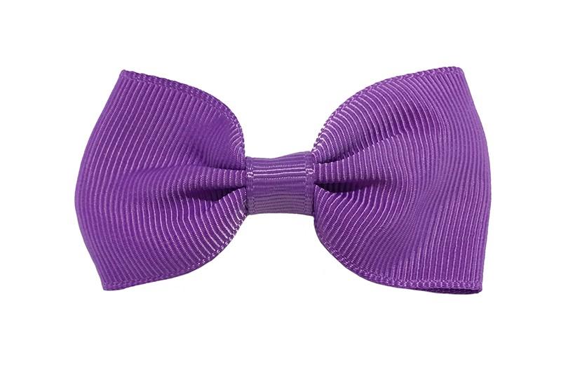 Vrolijk lila paars peuter, meisjes haarstrikje van lint. Op een handig alligator knipje.