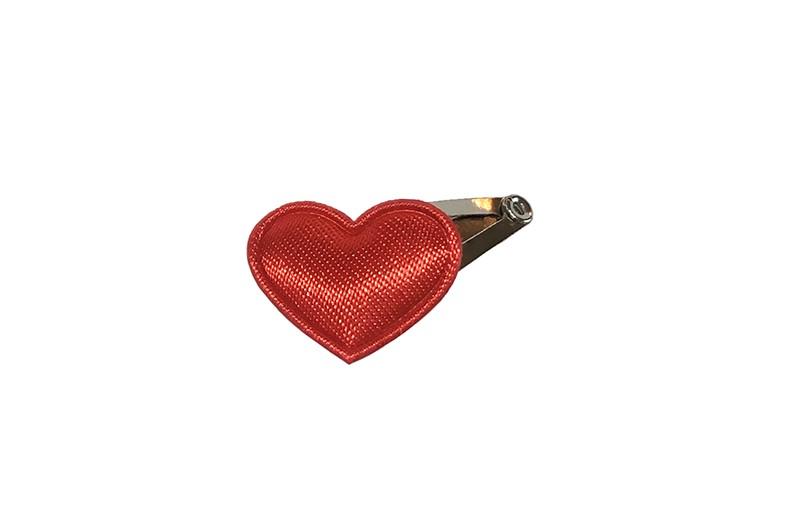 Schattig klein newborn baby haarspeldje met daarop een klein glanzend rood hartje.  Laat uw kindje niet slapen of alleen zijn met haarspeldjes in!