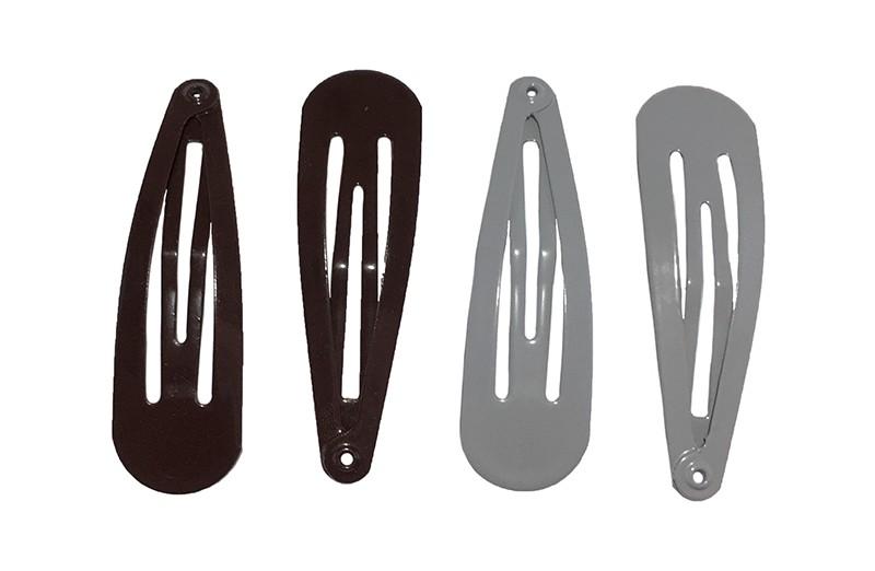 Leuk setje van 4 basis haarspeldjes. 2 zwart en 2 grijs.