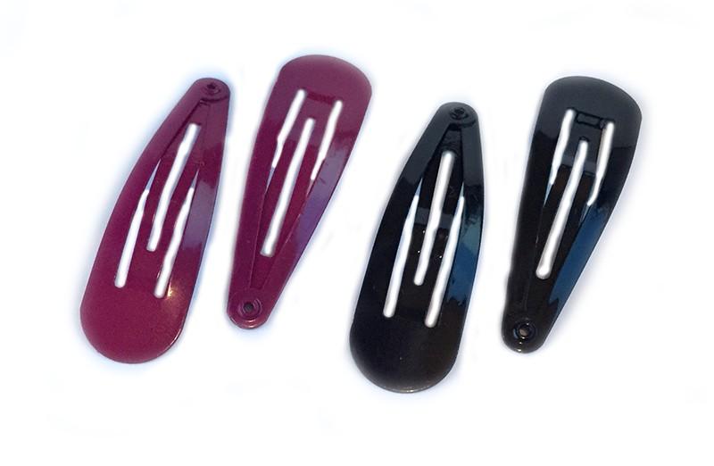 Leuk setje van 4 basis haarspeldjes. 2 rozerood en 2 zwart