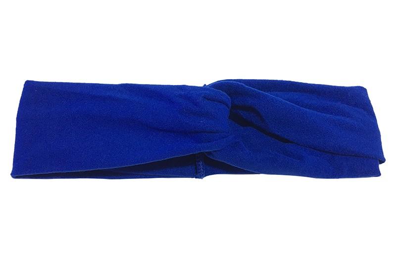 Schattig kobalt blauw stoffen baby peuter meisjes haarbandje.  Dit haarbandje is leuk in elkaar gedraaid in een 'twist' model. Van zachte goed rekbare stof.  Geschikt voor baby en peuter meisjes, tot ongeveer 4 jaar.  Het haarbandje is ongeveer 5 centimeter breed.