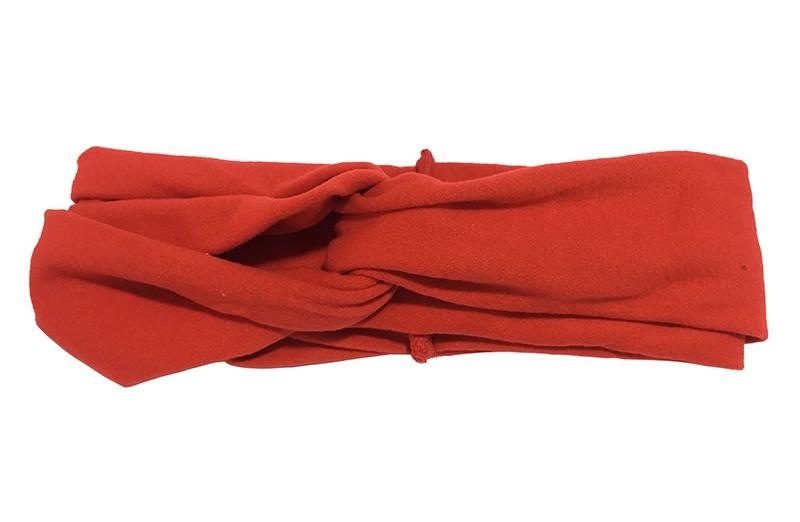 Schattig rood stoffen baby peuter meisjes haarbandje.  Dit haarbandje is leuk in elkaar gedraaid in een 'twist' model. Van zachte goed rekbare stof.  Geschikt voor baby en peuter meisjes, tot ongeveer 4 jaar.  Het haarbandje is ongeveer 5 centimeter breed.