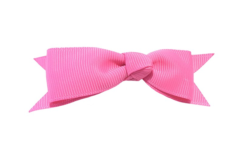 Mooi haarstrikje van fel roze lint op een handig alligatorknipje. Leuk voor kleine meisjes en grotere meisjes.