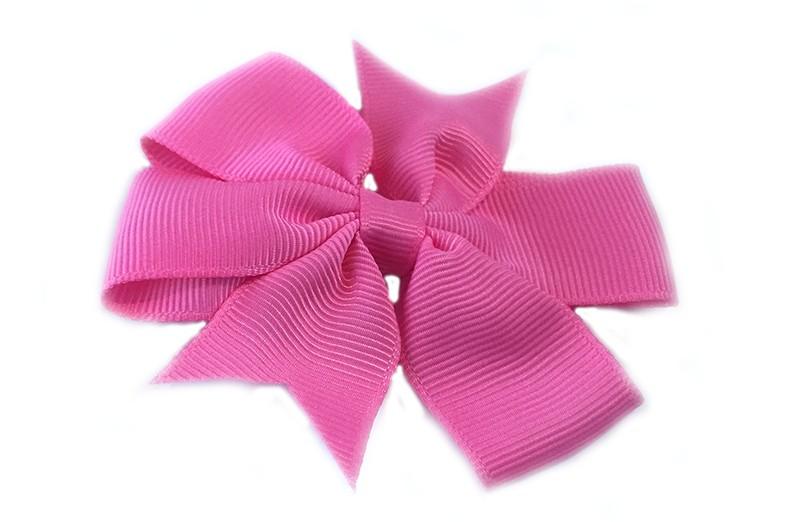 Mooi! Grote kobalt fel roze haarstrik op een alligator speldje makkelijk in het haar te zetten.