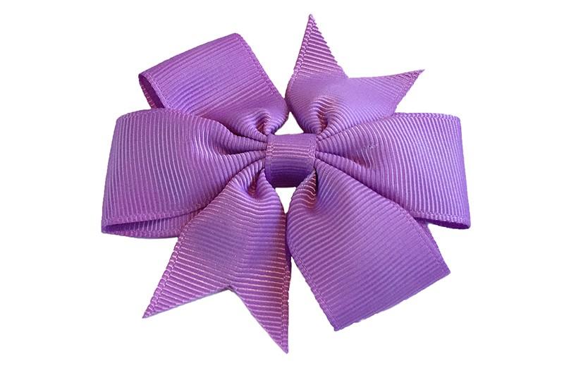 Mooi! Grote lila / paarse haarstrik op een alligator speldje makkelijk in het haar te zetten.