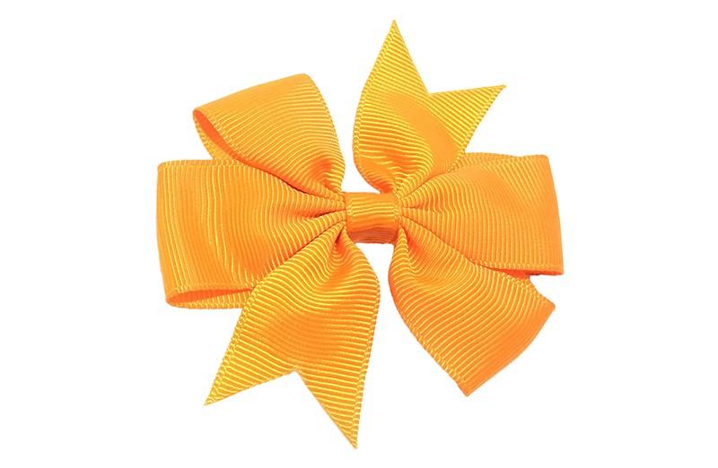Mooi! Grote oranje haarstrik op een alligator speldje makkelijk in het haar te zetten. Hollands gekleurd!
